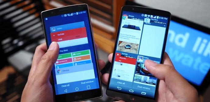 LG G Flex 2 vs LG G3 interfaz