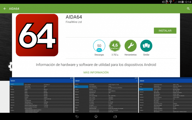 AIDA64 hardware tablet android foto 1