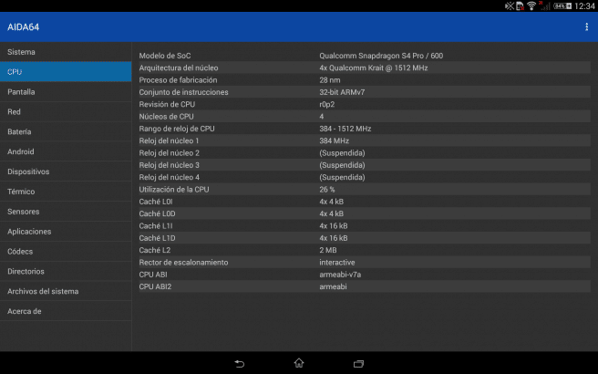 AIDA64 hardware tablet android foto 3