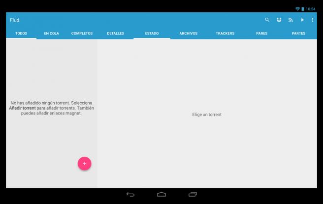 Flud Descargar archivos red torrent tablet foto 1