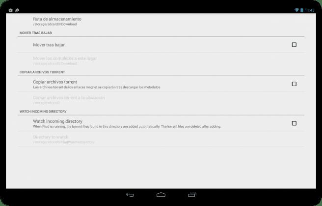 Flud Descargar archivos red torrent tablet foto 4