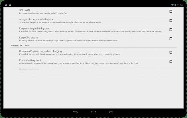 Flud Descargar archivos red torrent tablet foto 8