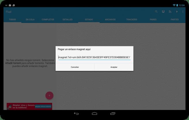 Flud Descargar archivos red torrent tablet foto 9