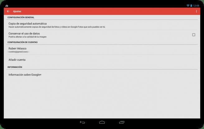 Google+ sincronziar fotos automaticamente tablet foto 1