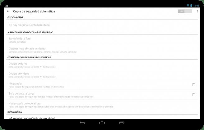 Google+ sincronziar fotos automaticamente tablet foto 2