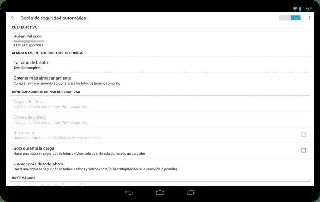 Google+ sincronziar fotos automaticamente tablet foto 3