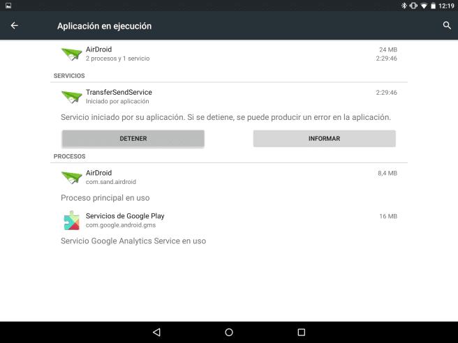 Nexus 9 apps en proceso