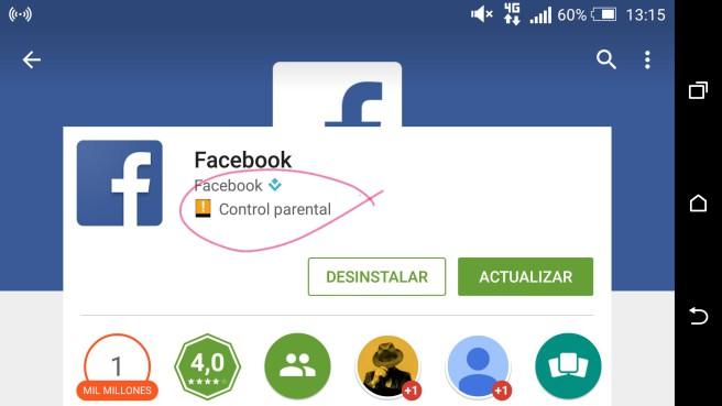Facebook control parental