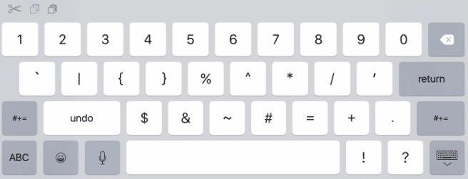 teclado ios 9 numeros