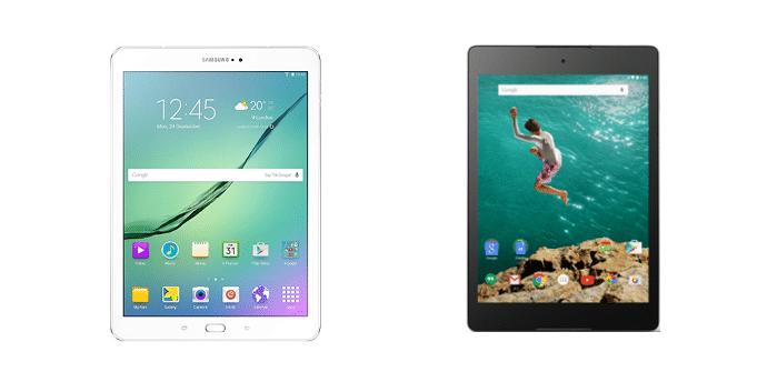 Samsung Galaxy Tab S2 Google Nexus 9
