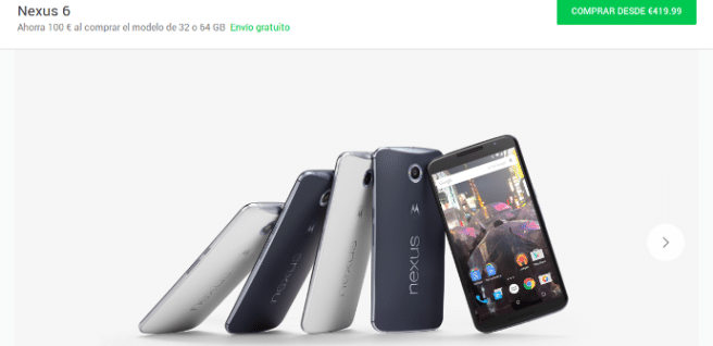 Nexus 6 rebaja Google Play