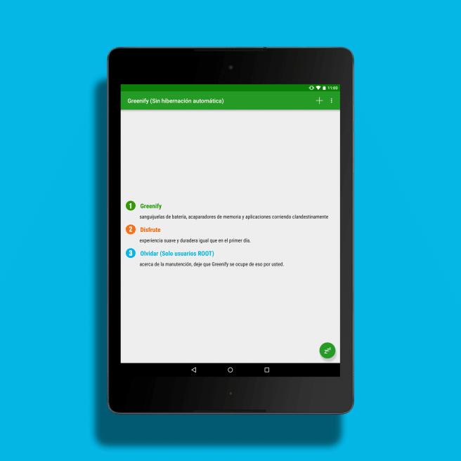 Greenify pantalla de inicio Android