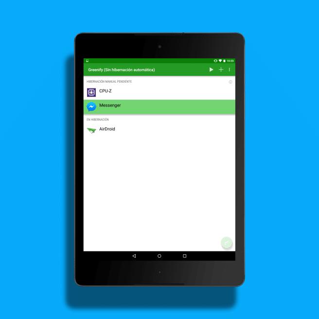 Greenify hibernar app Android