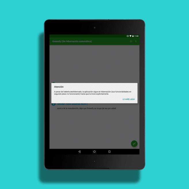 Greenifiny anular hibernacion Android