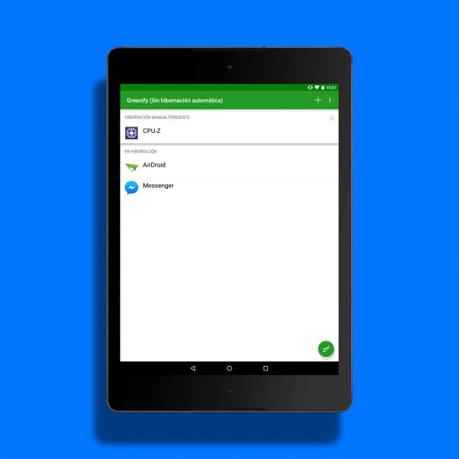 Greenifiny apps hibernando Android