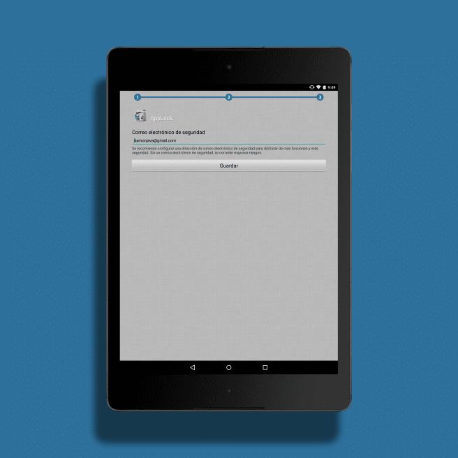 correo de seguridad AppLock en Android