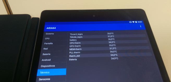 Temperatura tablet Android