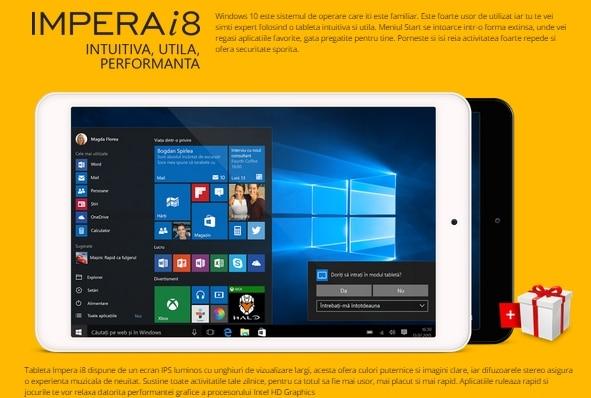 allview impera i8 tablet con windows 10