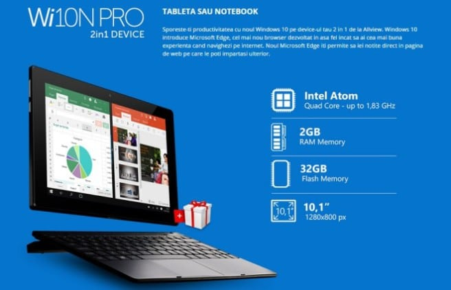 allview wi10n pro tablet con Windows 10