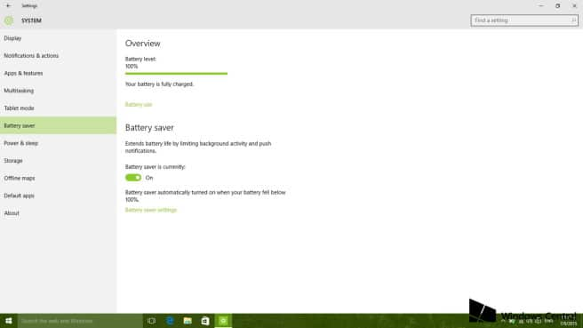 Windows 10 modo ahorro de bateria