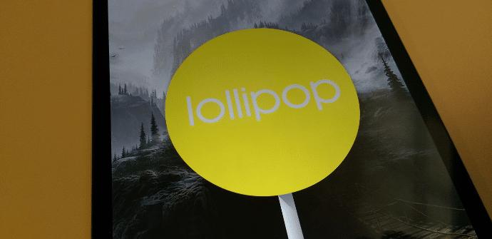 Nexus 9 Lollipop amarillo