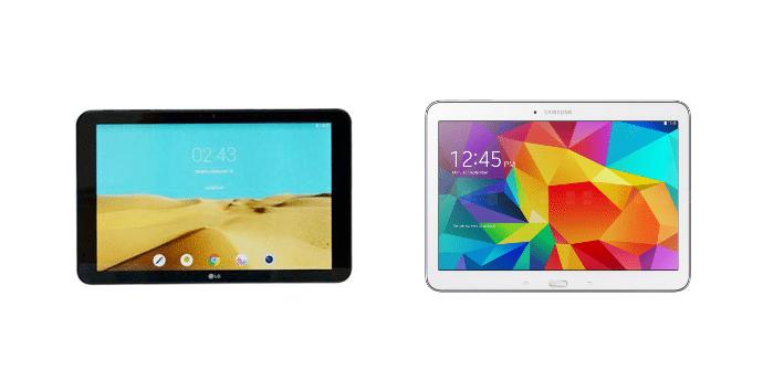 LG G Pad II 10.1 Samsung Galaxy Tab 4 10.1
