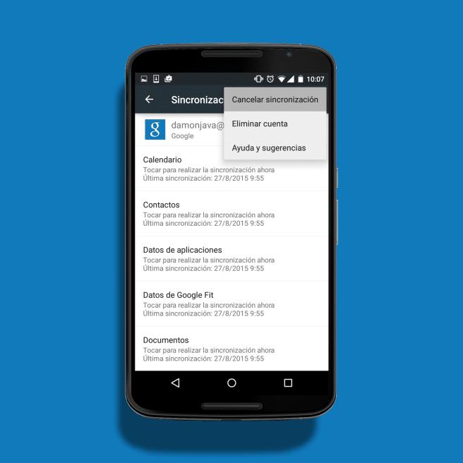 Eliminar perfil usuario Google