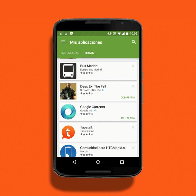 Todas las apps cuenta Play Store