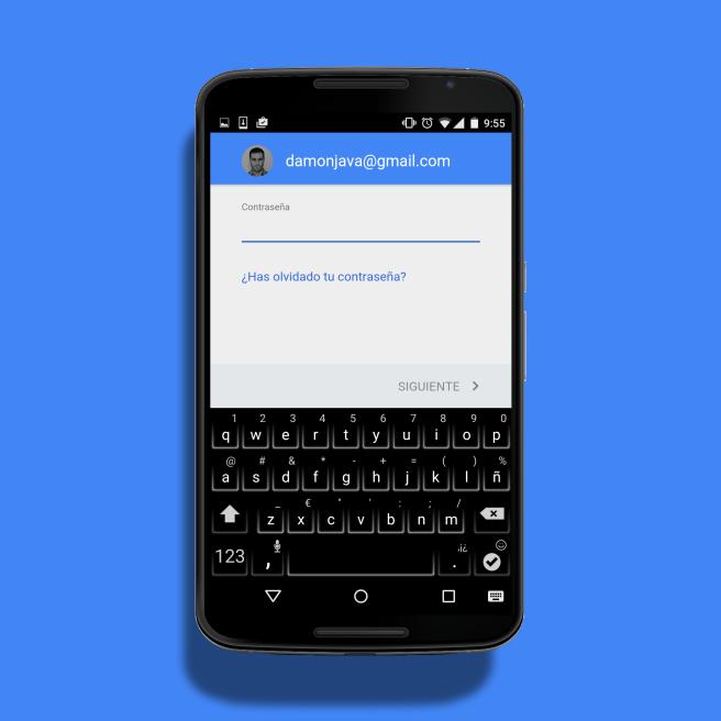 Añadir una cuenta en Android