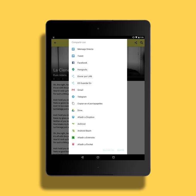 Android compartir canciones