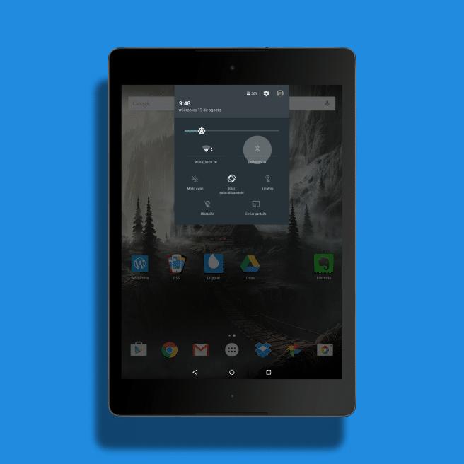 Conectar accesorios Nexus 9