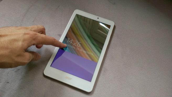Tablet Acer con Windows desbloqueo