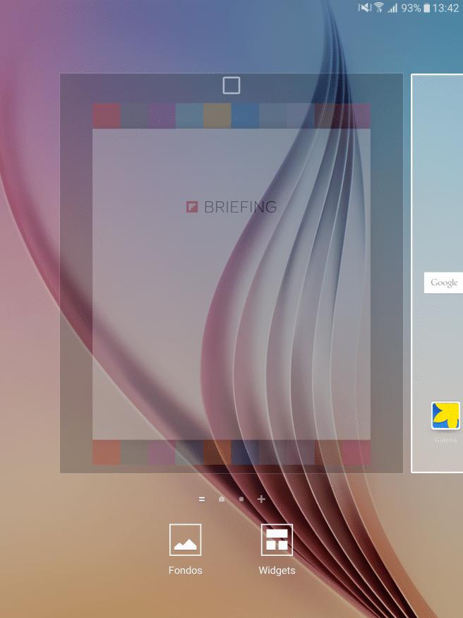 Galaxy Tab S2 quitar escritorio