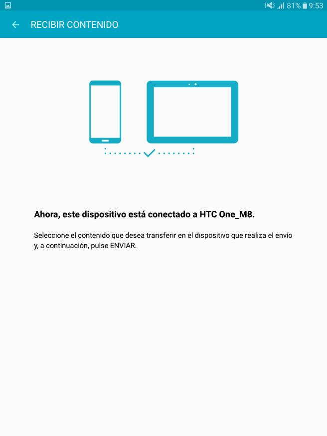 Galaxy Tab S2 transferir archivos desde el movil