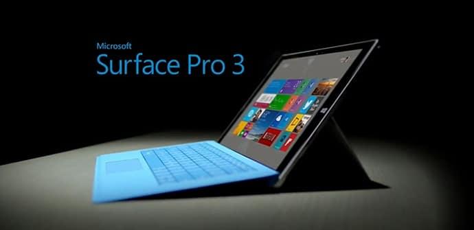 Surface Pro 3 y teclado