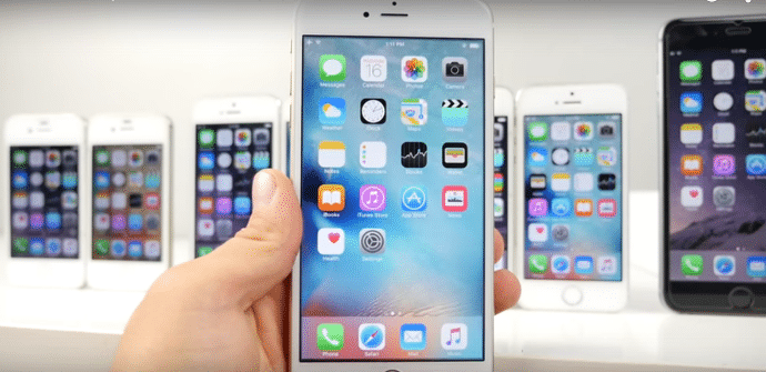 iPhone pantalla iOS 9