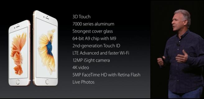 iPhone 6S todas las caracteristicas