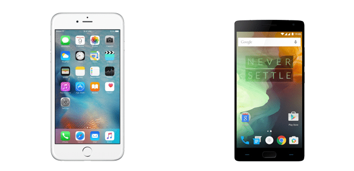 Apple iPhone 6s Plus OnePlus 2