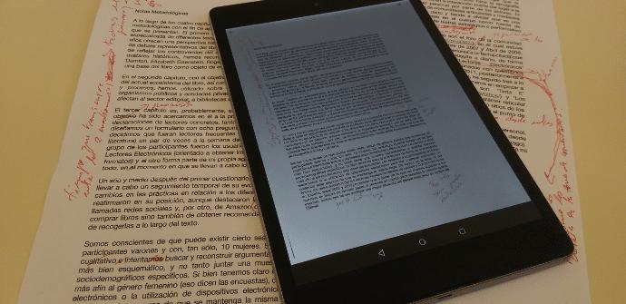 Tablet camara escaner