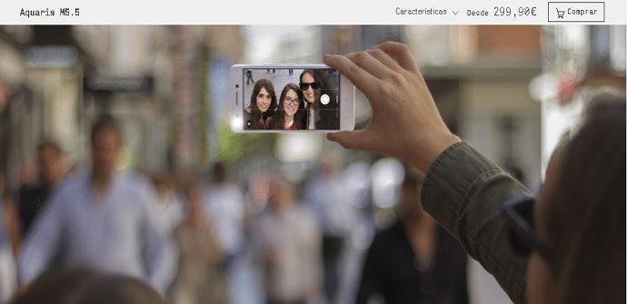 BQ Aquaris M 5.5 selfie
