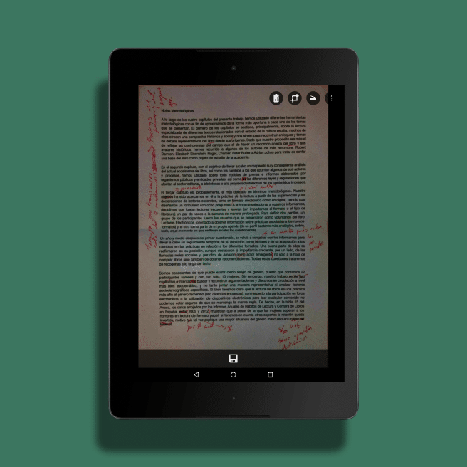 Documento escaneado Microsoft Lens