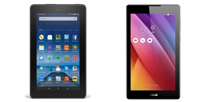 Amazon Fire 7 Asus ZenPad 7
