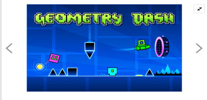 Geometry Dash Android pantalla