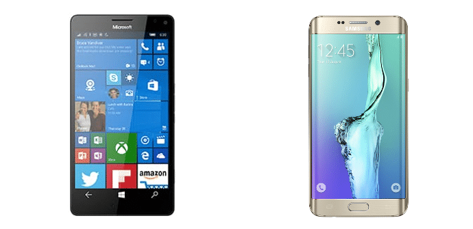 Microsoft Lumia 950 XL Samsung Galaxy S6 edge+