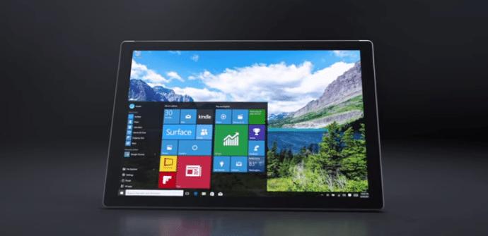 Surface Pro 4 interfaz