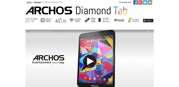 tablet Archos Diamond
