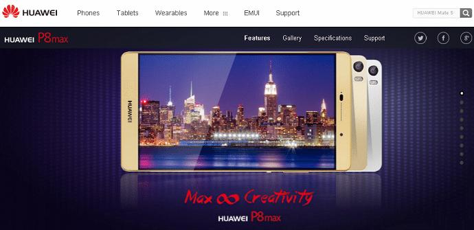 Huawei P8max pantalla