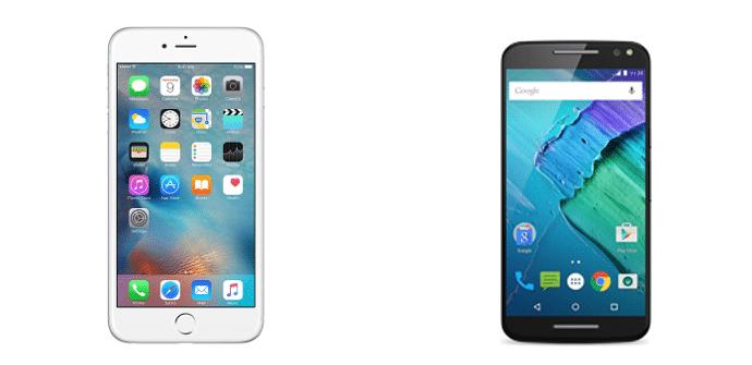 Apple iPhone 6s Plus Motorola Moto X Style