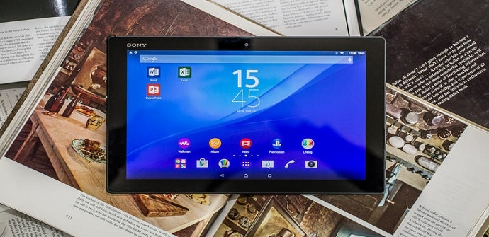xperia z4 tablet frontal