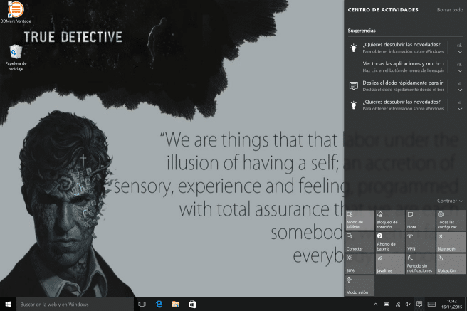 Tablet Surface Windows 10 ajustes